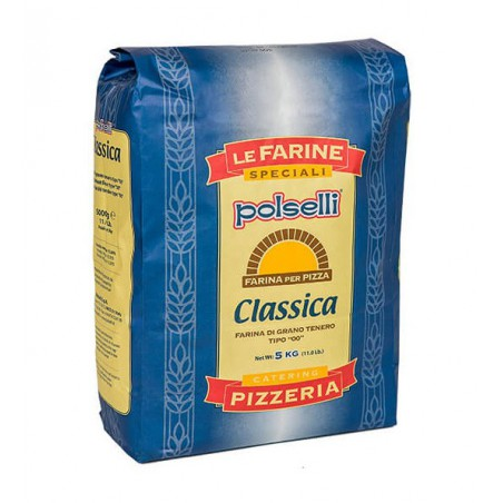 Mąka do pizzy 5kg Polselli Classica BLU